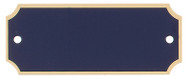 """Engraved Perpetual Black Brass Plate with Gold Border Standard - 1"""" x 2.5"""""""