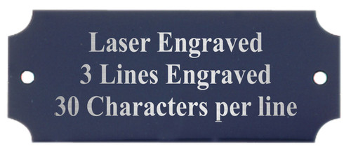 Perpetual Metal Plate / Engraved Plate - BLACK with Silver Lettering