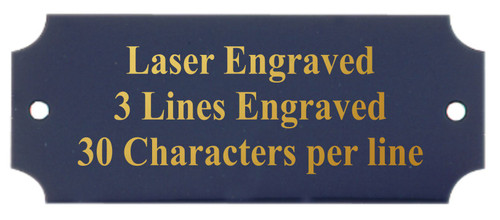 Perpetual Metal Plate / Engraved Plate - BLACK with Gold Lettering