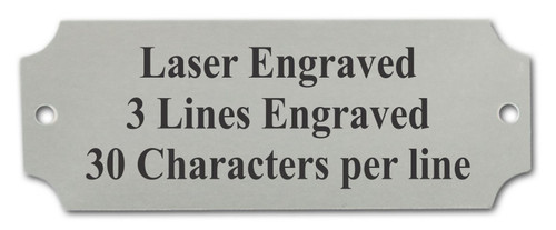 Perpetual Metal Plate / Engraved Plate - SILVER with black lettering