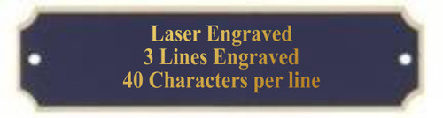 """Perpetual Black Brass  Plate with Border / Engraved Plate - 1"""" x 3.25"""""""