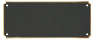 "Header Plate Black Brass with Border / Engraved Plate - 2.75"" x 6.5"""