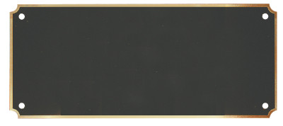 """Header Plate Black Brass with Border / Engraved Plate - 3"""" x 7"""""""