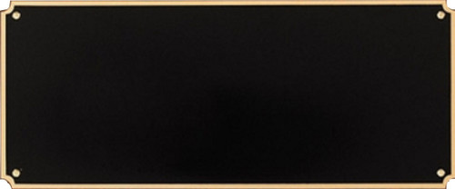 "Header Plate Black Brass with Border / Engraved Plate - 3.5"" x 8.5"""