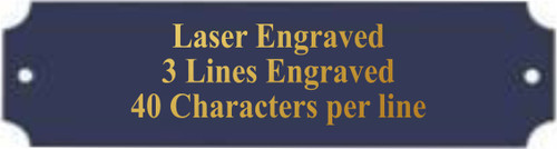 """Perpetual Black Brass Plate / Engraved Plate - 1"""" x 3.25"""""""