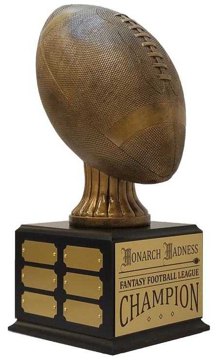 Football Champion Perpetual Trophy | Gridiron Perpetual Award | 15.5 Inch Tall