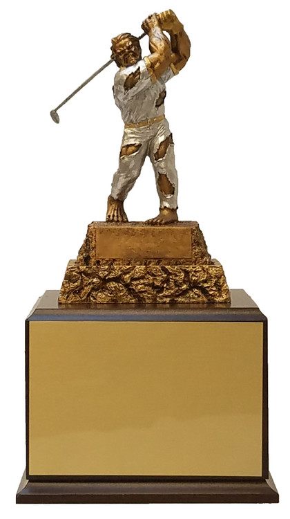 Golf Monster Perpetual Trophy - Cherry Base