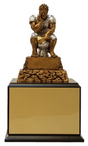 Fantasy Football Monster LAST PLACE / LOSER Perpetual Trophy | FFL MONSTER TOILET Award | 11.5 Inch Tall - Black Base