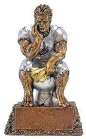 Monster on Toilet Bowl Last Place Trophy | Toilet Bowl Beast Loser Award |  6.75 Inch Tall - Decade Awards Exclusive