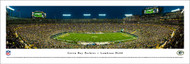 Green Bay Packers Panorama Print #5 (50 Yard - Night) - Unframed