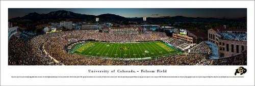 University of Colorado Panorama Print #2 (50 Yard) - Unframed