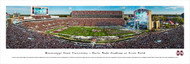 Mississippi State University Panorama Print #5 (50 Yard - Day) - Unframed