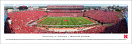 University of Nebraska Panorama Print #8 (50 Yard) - Unframed