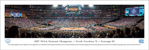 2017 NCAA National Championship Panorama Print (Basketball) - Unframed