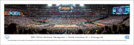2017 NCAA National Championship Panorama Print (Basketball) - Unframed
