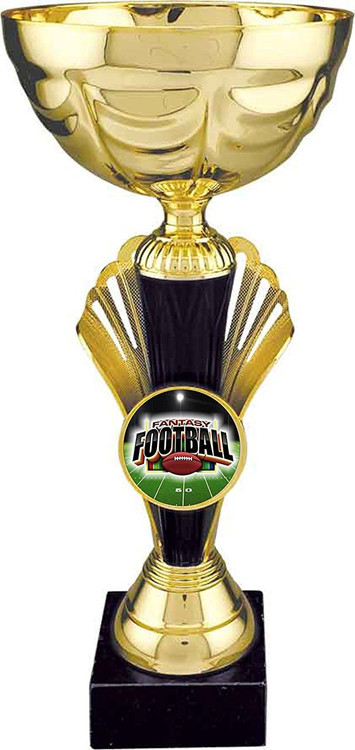 Fantasy Football Metal Cup Trophy | FFL Metal Cup Award / Gold  - Large 12""
