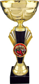 """Chili Cook-Off Metal Cup Trophy / Gold  - Large 12"""""""