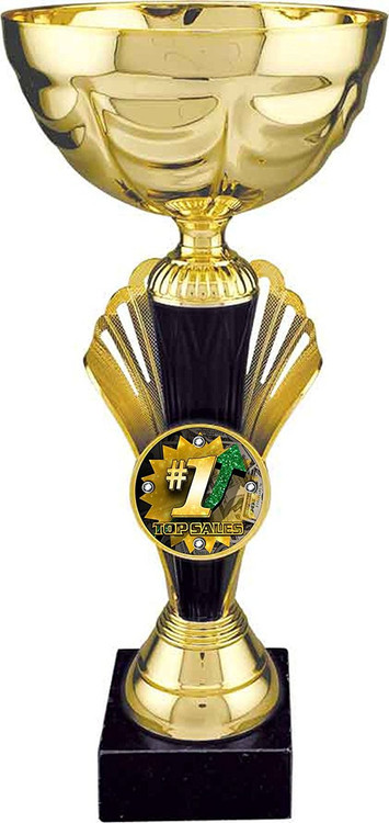 #1 Sales Metal Cup Trophy / Gold  - Large 12""
