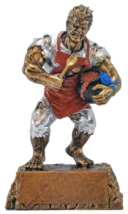 """Chili Pot Cook-Off Monster Trophy / Cooking Beast Award - 6.75"""""""