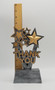Thank You Trophy | Gold and Silver Stars Appreciation Award - 6 or 8.5 Inch Tall
