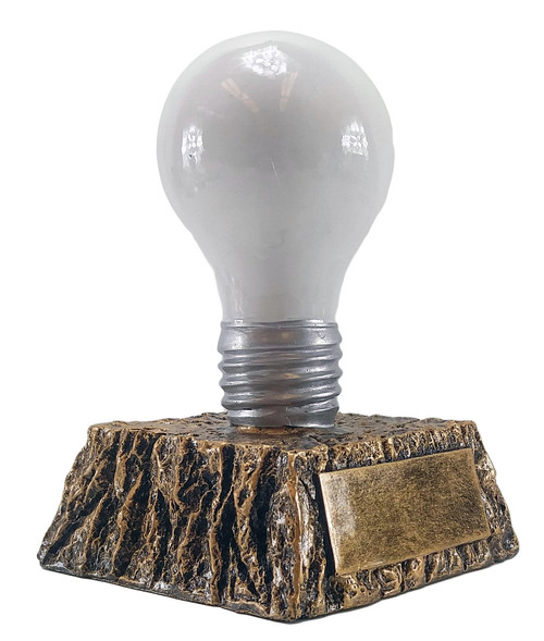 "Light Bulb Trophy - White    Great Idea Award - 6"""