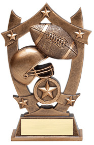 Football 3D Gold Sport Stars Trophy | Star Football Player Award | 6.25 Inch