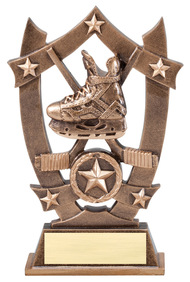 Hockey 3D Gold Sport Stars Trophy | Star Face-Off Player Award | 6.25 Inch