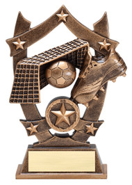 Soccer 3D Gold Sport Stars Trophy | Star Fútbol Player Award | 6.25 Inch