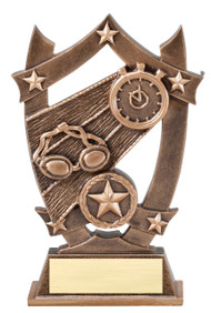 Swimming 3D Gold Sport Stars Trophy | Star Swimmer Award | 6.25 Inch