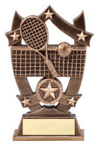 Tennis 3D Gold Sport Stars Trophy | Star Tennis Player Award | 6.25 Inch