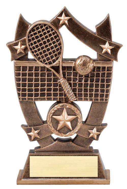Tennis 3D Gold Sport Stars Trophy | Star Tennis Player Award | 6.25 Inch