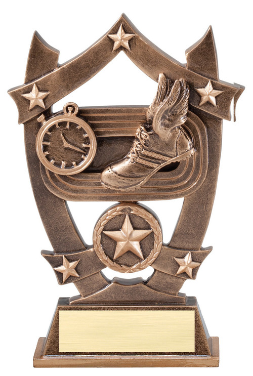 Track and Field 3D Gold Sport Stars Trophy | Star Track and Field Award | 6.25 Inch