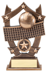 Volleyball 3D Gold Sport Stars Trophy | Star V-ball Player Award | 6.25 Inch