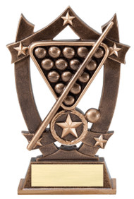 Billiards 3D Gold Sport Stars Trophy | Star Pool Player Award | 6.25 Inch