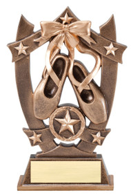Ballet 3D Gold Sport Stars Trophy | Star Ballerina Dancer Award | 6.25 Inch