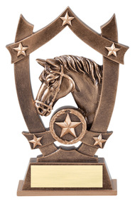 Equestrian 3D Gold Sport Stars Trophy | Star Dressage Award | 6.25 Inch