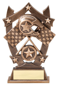 Racing 3D Gold Sport Stars Trophy | Star Motocross NASCAR Award | 6.25 Inch