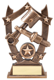 Spark Plug 3D Gold Sport Stars Trophy | Star Mechanic Award | 6.25 Inch
