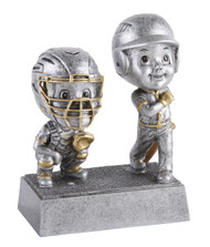 "Baseball Double Bobblehead Trophy - 6"" Tall - Clearance"