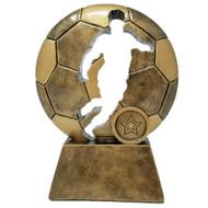 "Soccer Ball Player Cut Out Trophy | Engraved Soccer Award  | trofeo de futbol - 6.5"""
