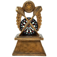 "Darts Trophy | Colored Dart Board Wreath Award - 7"""