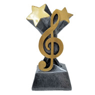 Music / G Clef Trophy | Music Note Trophy | Lyrical Band Award | 5.75 Inch