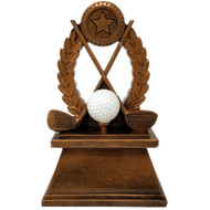 Golf Tournament Trophy | Golf Clubs & Ball Award | Golfer Trophies | 7 Inch