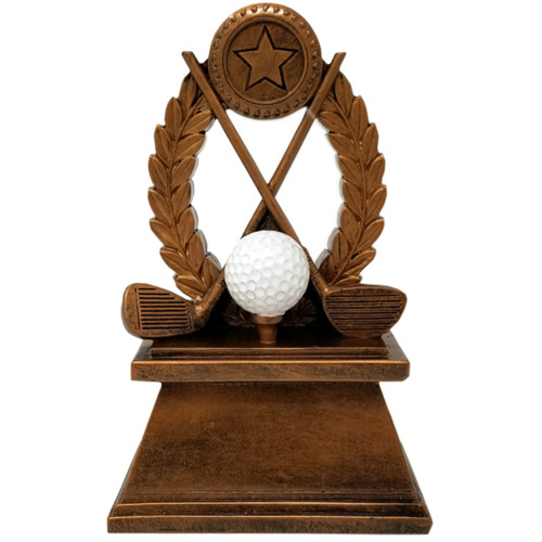 Golf Tournament Trophy | Golf Clubs & Ball Award | Golfer Trophies - 7""