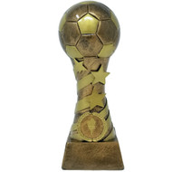 Soccer Stars & Stripes Tower Trophy | Soccer Star Spiral Trophy | Fútbol Tower Award | 8 Inch