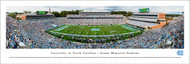 University of North Carolina Panorama Print #3 (50 Yard) - Unframed