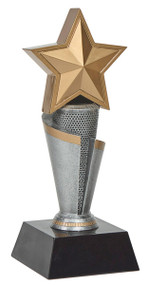 Star Gold and Silver Tower Trophy - 11""