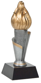 Torch Tower Trophy | Flame of Victory Academic or Corporate Business Award | 11 Inch Tall