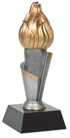 Torch Tower Trophy | Flame of Victory Academic or Corporate Business Award | 10.75 Inch Tall