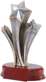 Star Award / Triple Shooting Star Trophy - 7.25""
